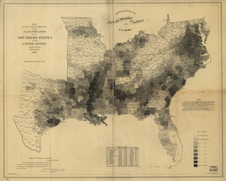 The density of slavery in 1860